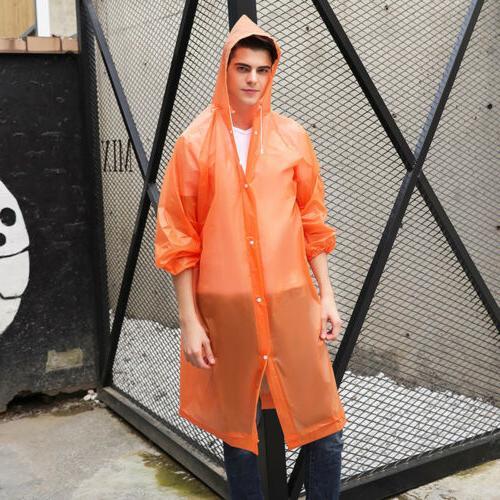 NEW Men Waterproof Jacket Rain Coat Poncho Rainwear US