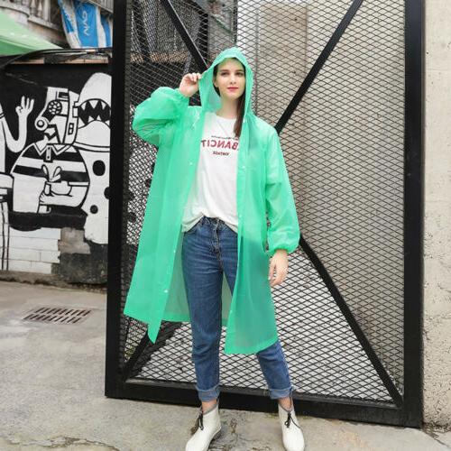 NEW Men Women Waterproof Jacket PE Hooded Rain Coat US