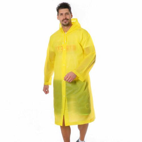 US NEW Men Waterproof Jacket Hooded Raincoat Coat Poncho Rainwear