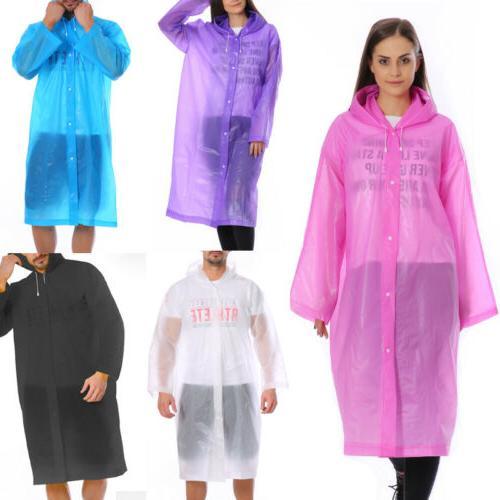 US Stock Rain Coat Waterproof Festival Camping Hiking Hooded