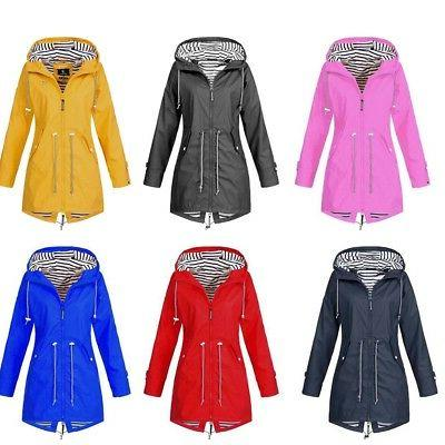 US Long Hooded Jacket Waterproof Coat Size