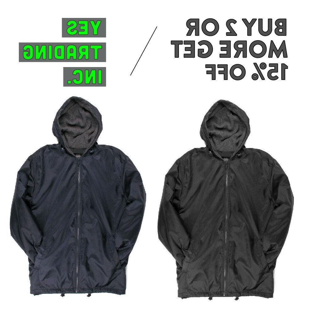vision mens casual windbreaker jacket raincoat waterproof