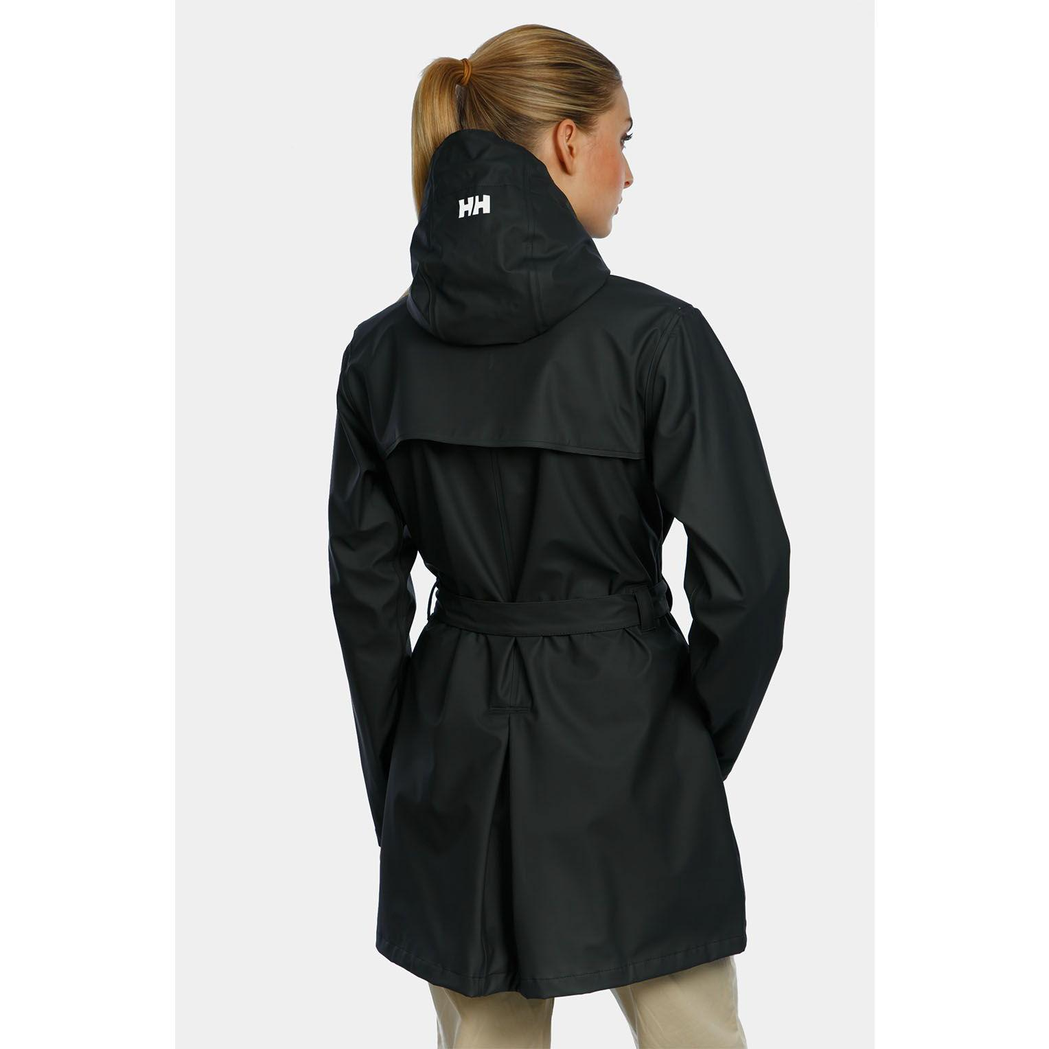 Helly W RAIN COAT, Size New with Color Tech Navy