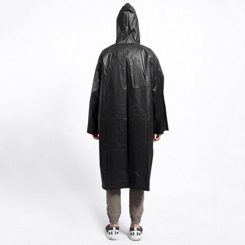 Waterproof Adult Poncho with Fashion Black