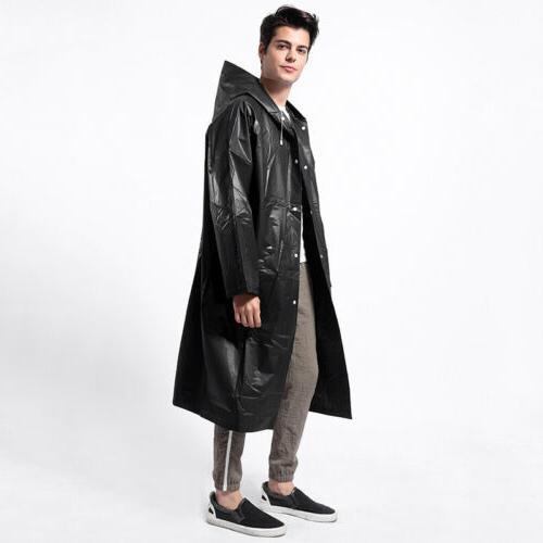 waterproof adult men raincoat eva long rain