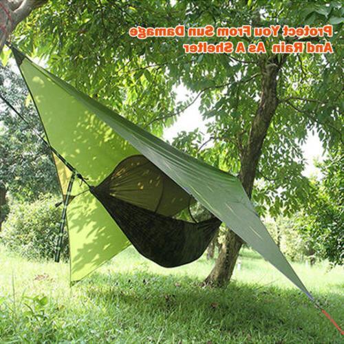 Waterproof Rainfly Tent Tarp Backpacking Mat Coat