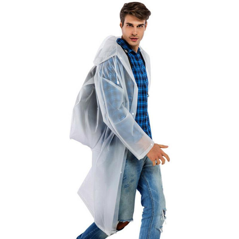 Waterproof Jacket Hooded Raincoat Rain Poncho Travel