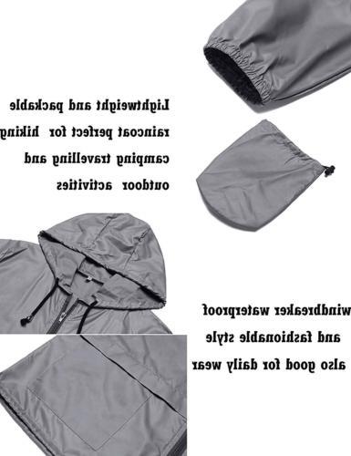 ZHENWEI Outdoor Rain Jacket Trench Coats