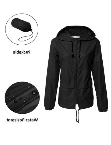 waterproof rain jacket women waterproof hood lightweight