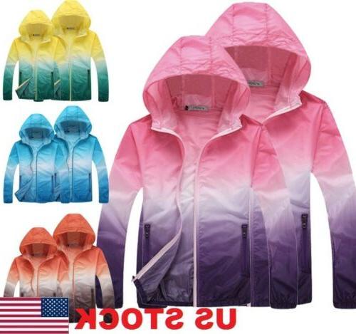 Waterproof Sunscreen Jacket Mens US Coat Rain Lightweight Oversized Womens STOCK
