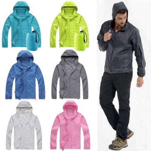 Women Mens Hoodies Jogging Windproof Jacket Overcoat