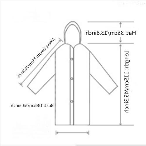 Gray Men Rain Coat Hooded Jacket Poncho