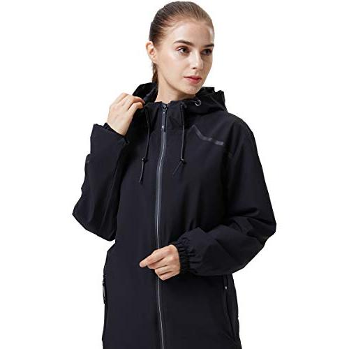 UDAREIT Womens Windbreaker Rain Jacket Coat Resist Full