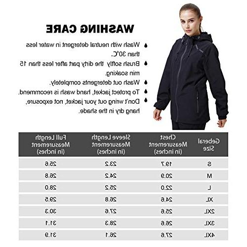 UDAREIT Womens Hoodie Plus Rain Jacket Coat Water Resist Spring Black S