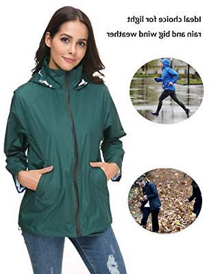 LOMON Womans Rainwear Softshell Casual Jacket