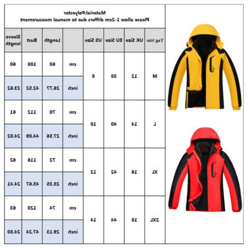 Women Jacket Windproof Snow Warm Outwear Tops