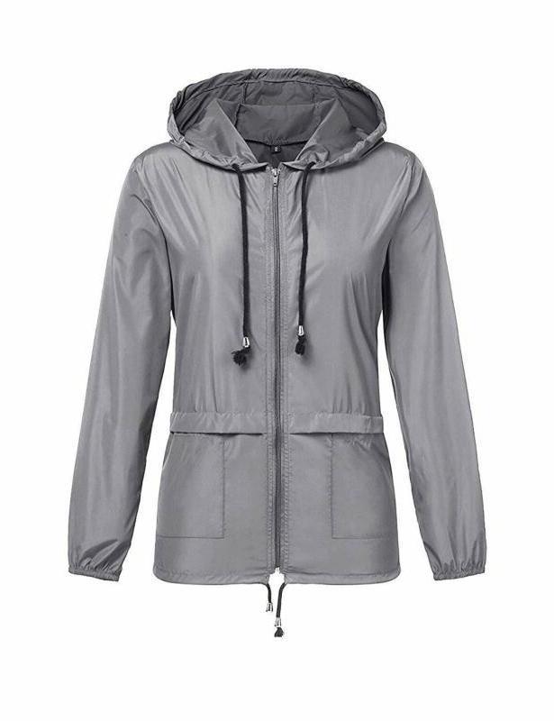 Zhenwei Lightweight Jackets Waterproof Windbreaker Outdoor Hooded