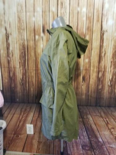 Hotouch Trench Waterproof Olive NWOT
