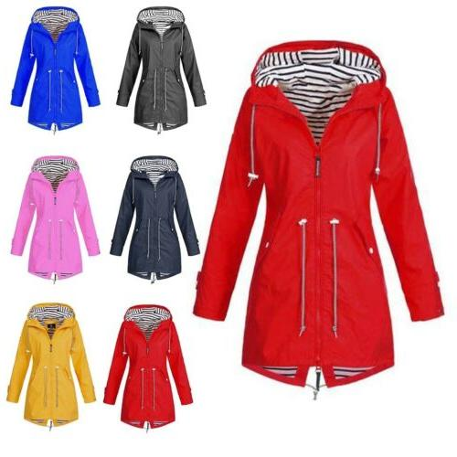 Women Parka Hooded Winter Waterproof Rain