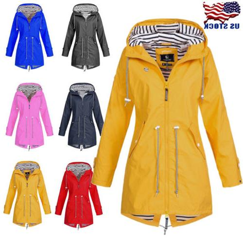 women long sleeve warm parka hooded wind