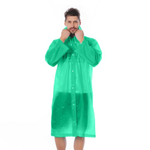 Women/Men Waterproof PE Rain Hooded Poncho