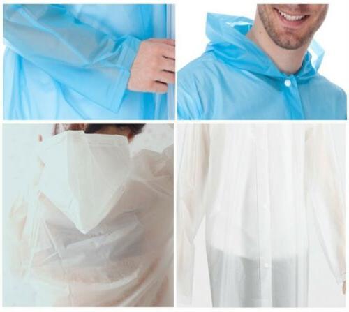 Women Jacket Clear Coat Hooded