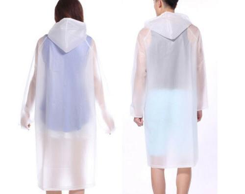 Women Men Clear PVC Coat Poncho