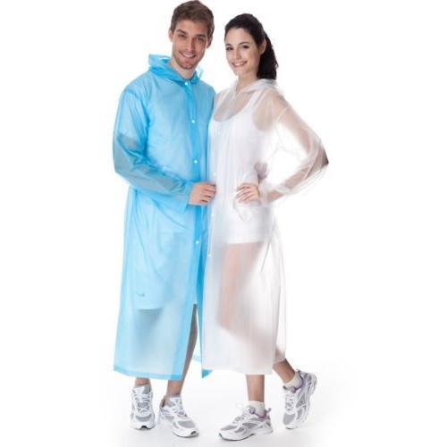 Women Clear Raincoat Coat Hooded