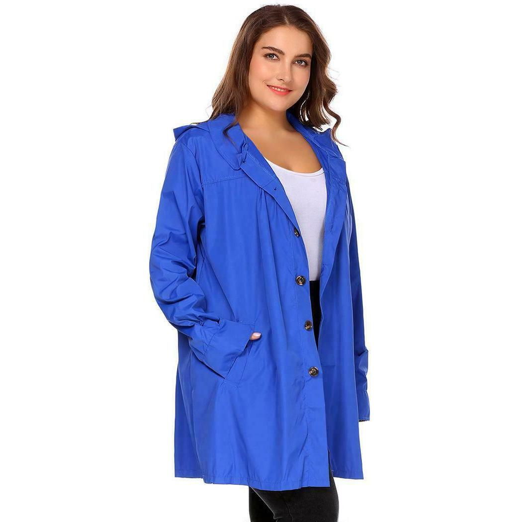 Women Long Sleeve Lightweight Raincoat OK