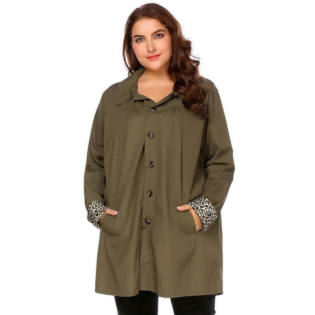 Women Long Sleeve Raincoat OK 03