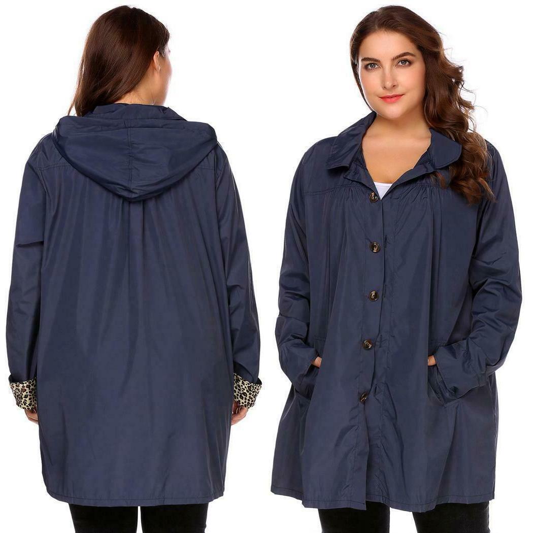 Women Plus Long Raincoat OK 03