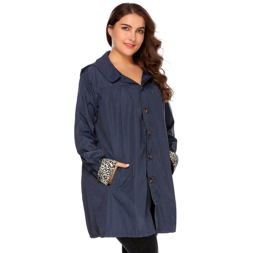 Women Long Sleeve Raincoat 03
