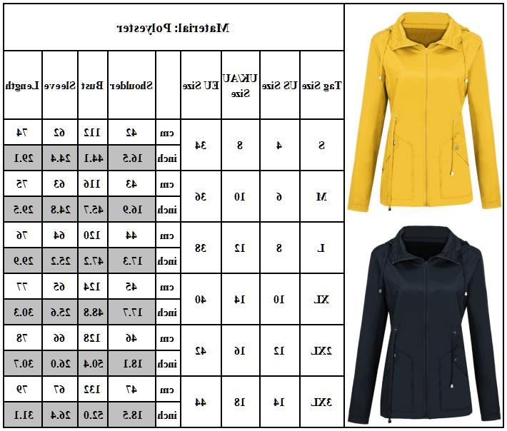Women Rain Outdoor Windproof Tops