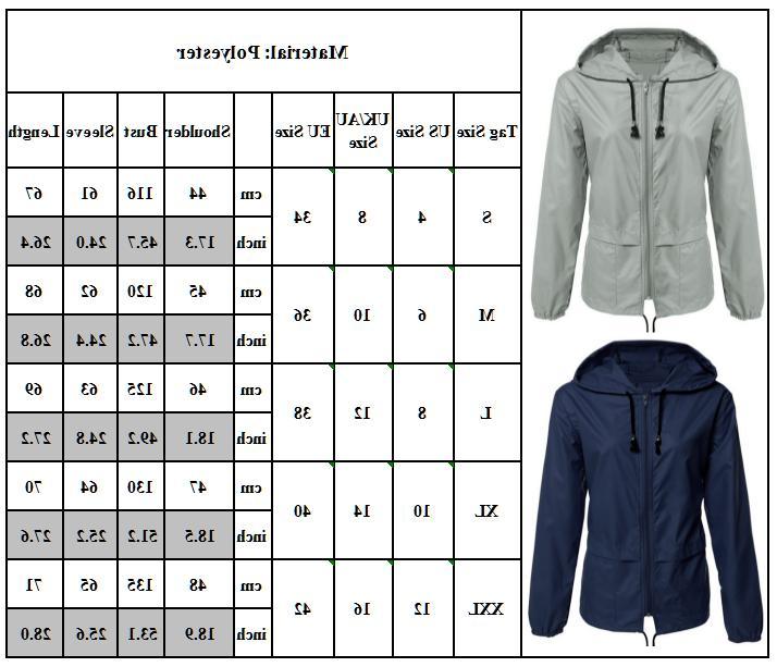 Womens Outdoor Wind Rain Jacket