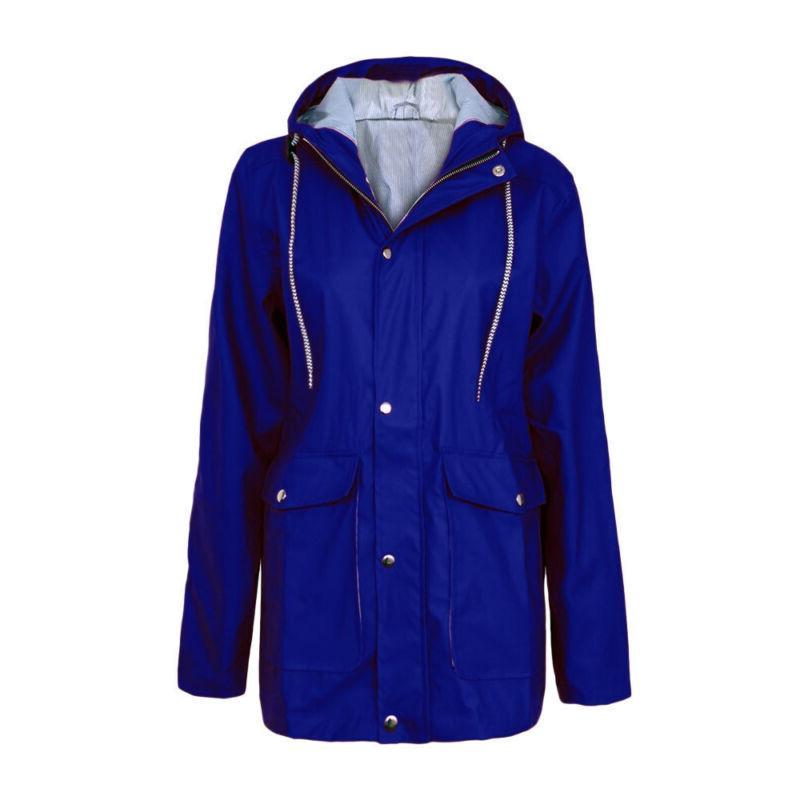 Women Hooded Raincoat Windproof