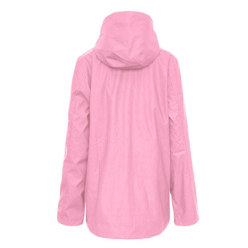 Women Rain Outdoor Plus Size Hooded