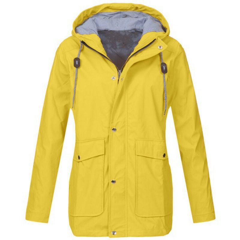Women Jacket Outdoor Plus Size Hooded Windproof