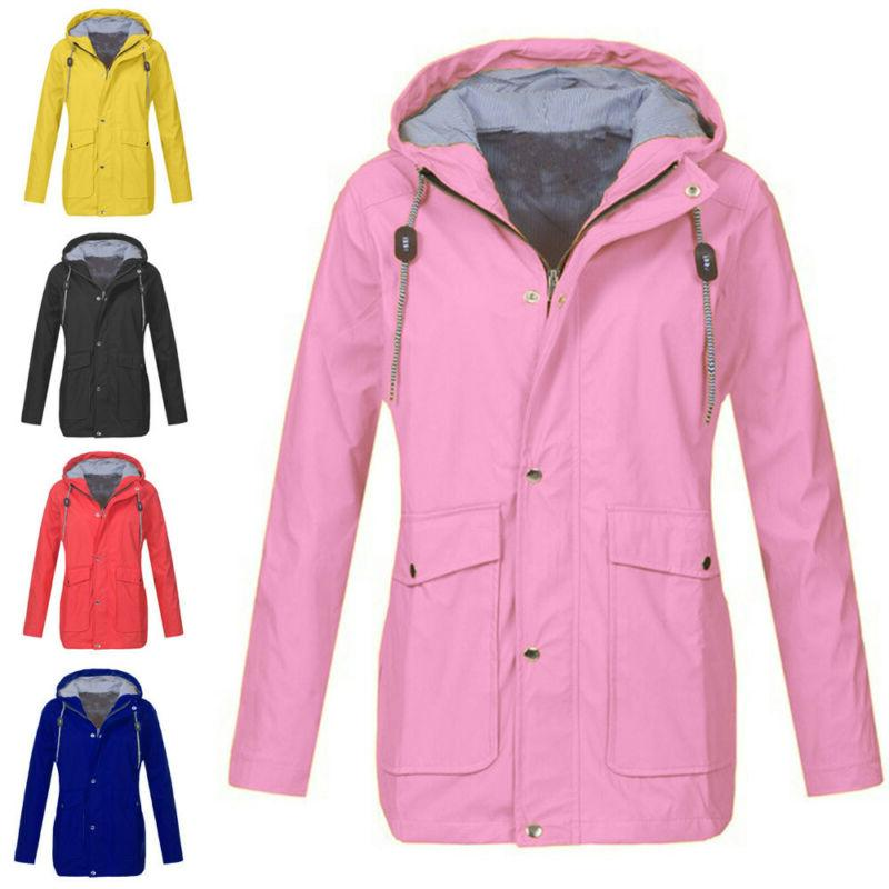 women rain jacket outdoor plus size outwear