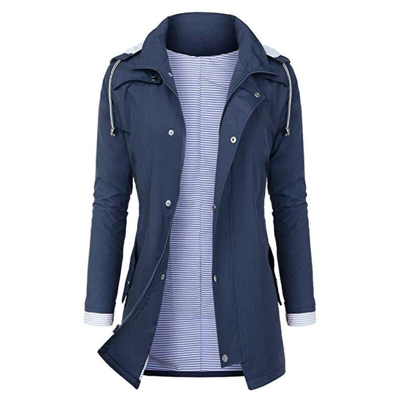 Women Plus Size Raincoat US
