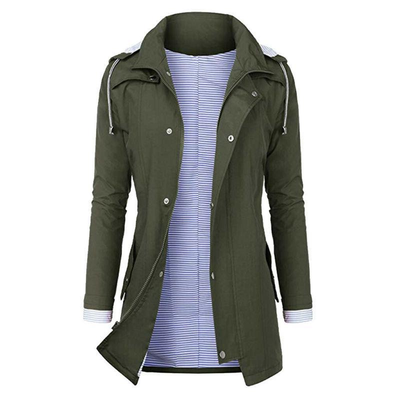 Women Rain Raincoat Coat