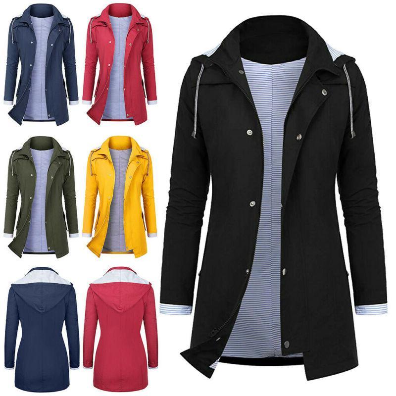 Women Rain Jacket Outdoor Plus Waterproof Raincoat