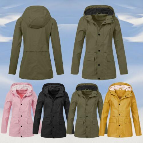 Women Jacket Hooded Windproof Plus