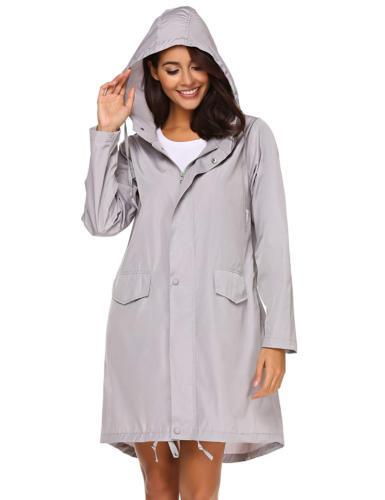 Teewanna Women's Hooded Outerwear Hiking Waterproof Jacket R