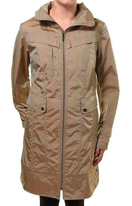 women s hoodie packable rain trench coat