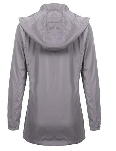 Beyove Packable Outdoor Rain Jacket Grey