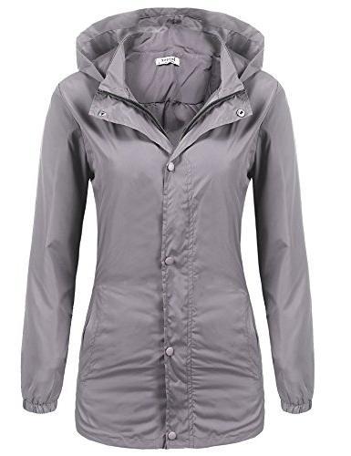 women s lightweight packable outdoor coat windproof