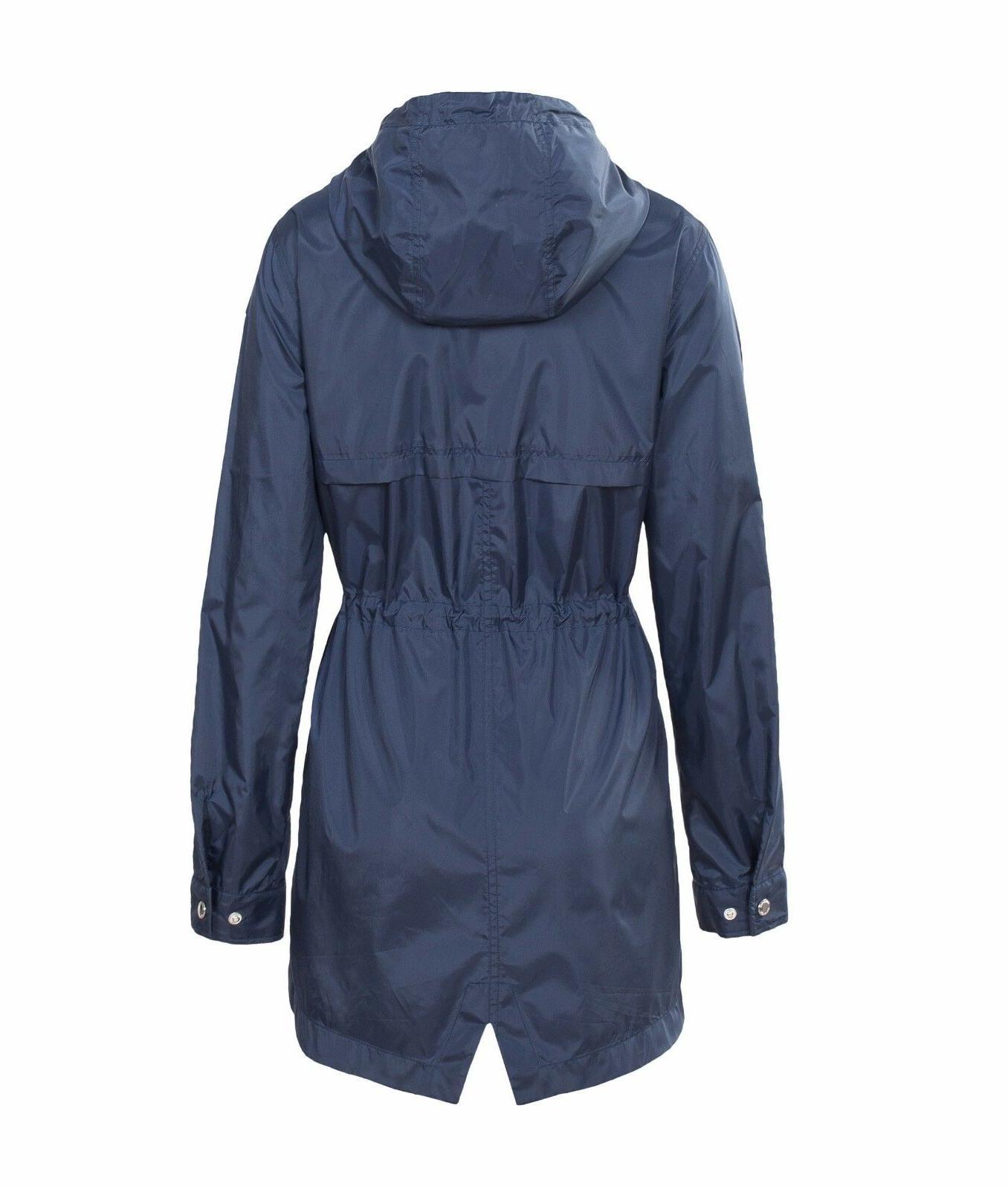 Women's Water-Resistant Trench Coat Windbreaker
