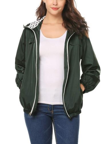 LOMON Women's Raincoat Quick-Drying JacketDark