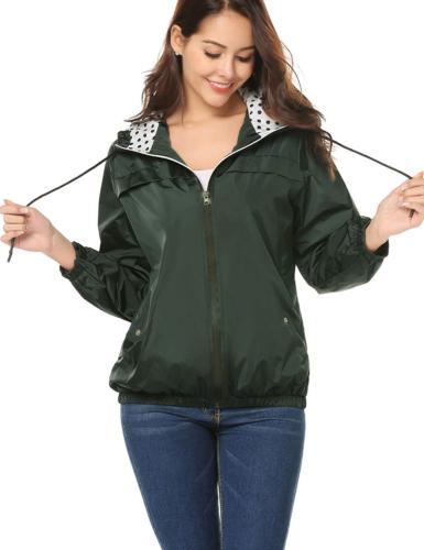 LOMON Women's Lightweight Raincoat Quick-Drying Hooded