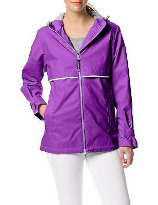 Charles River Apparel Women's New Waterproof Jacket Violet
